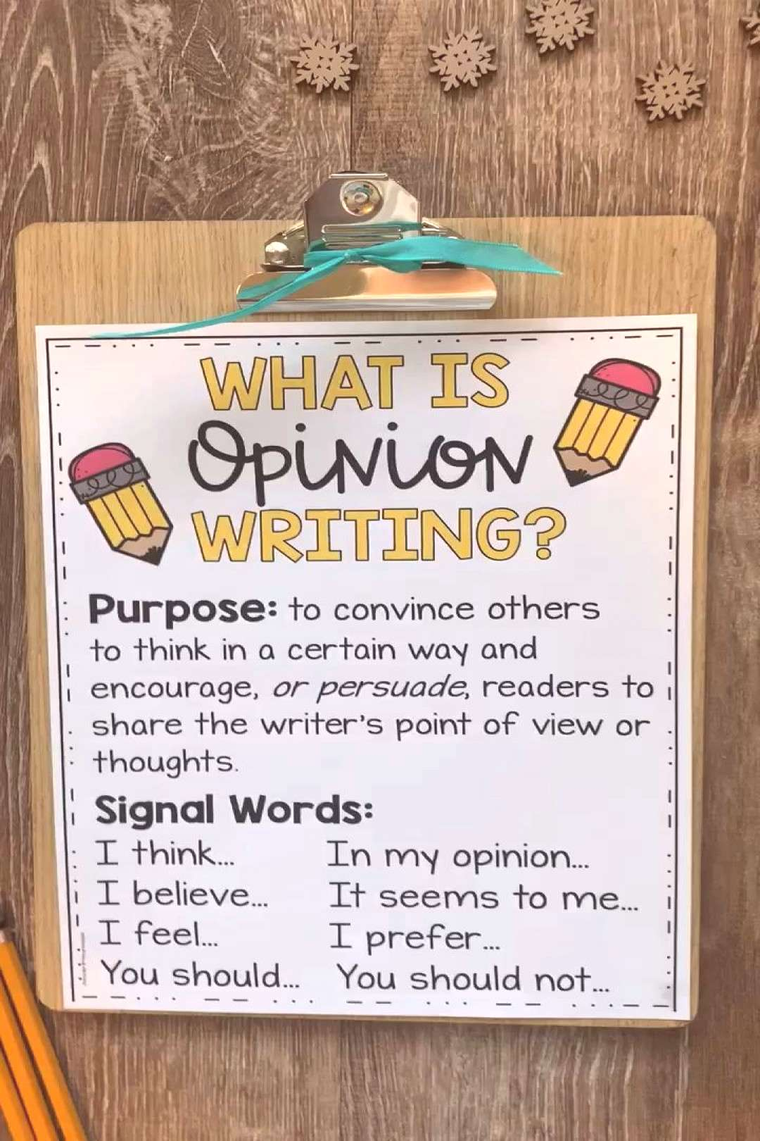 Opinion Writing Prompts and Anchor Charts These opinion writing activities and prompts are perfect