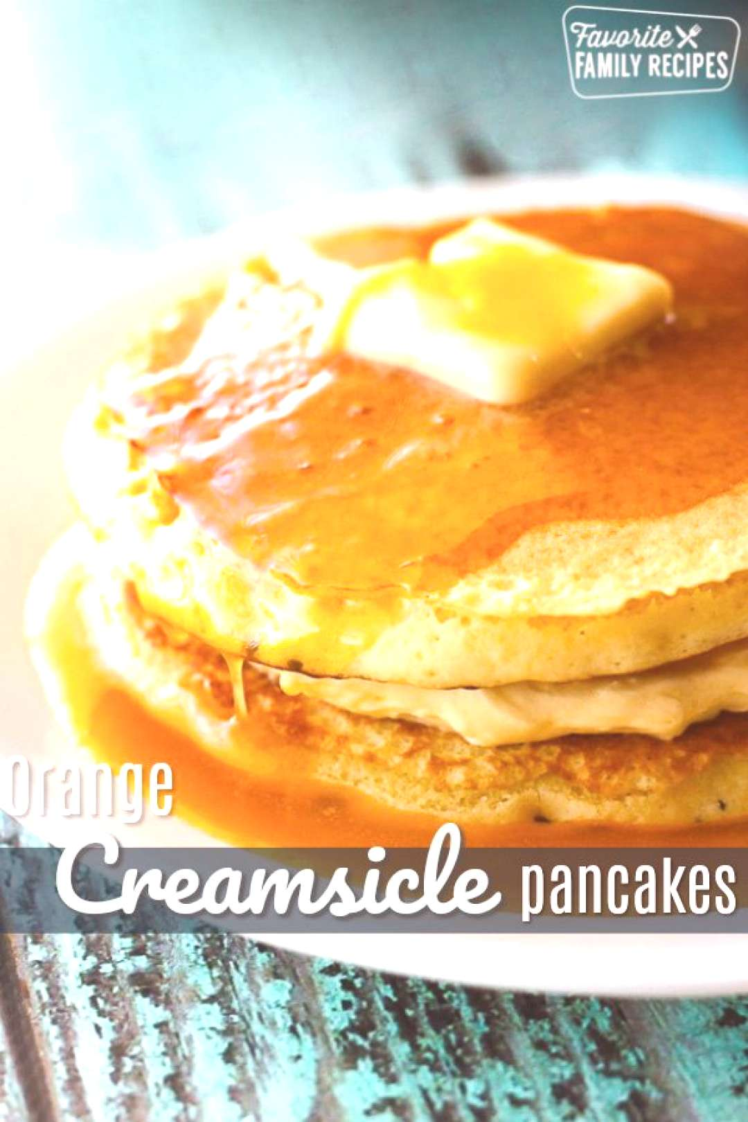 Orange Creamsicle Pancakes with Orange Syrup have all the flavors of a dreamsicle pop! Orange infus