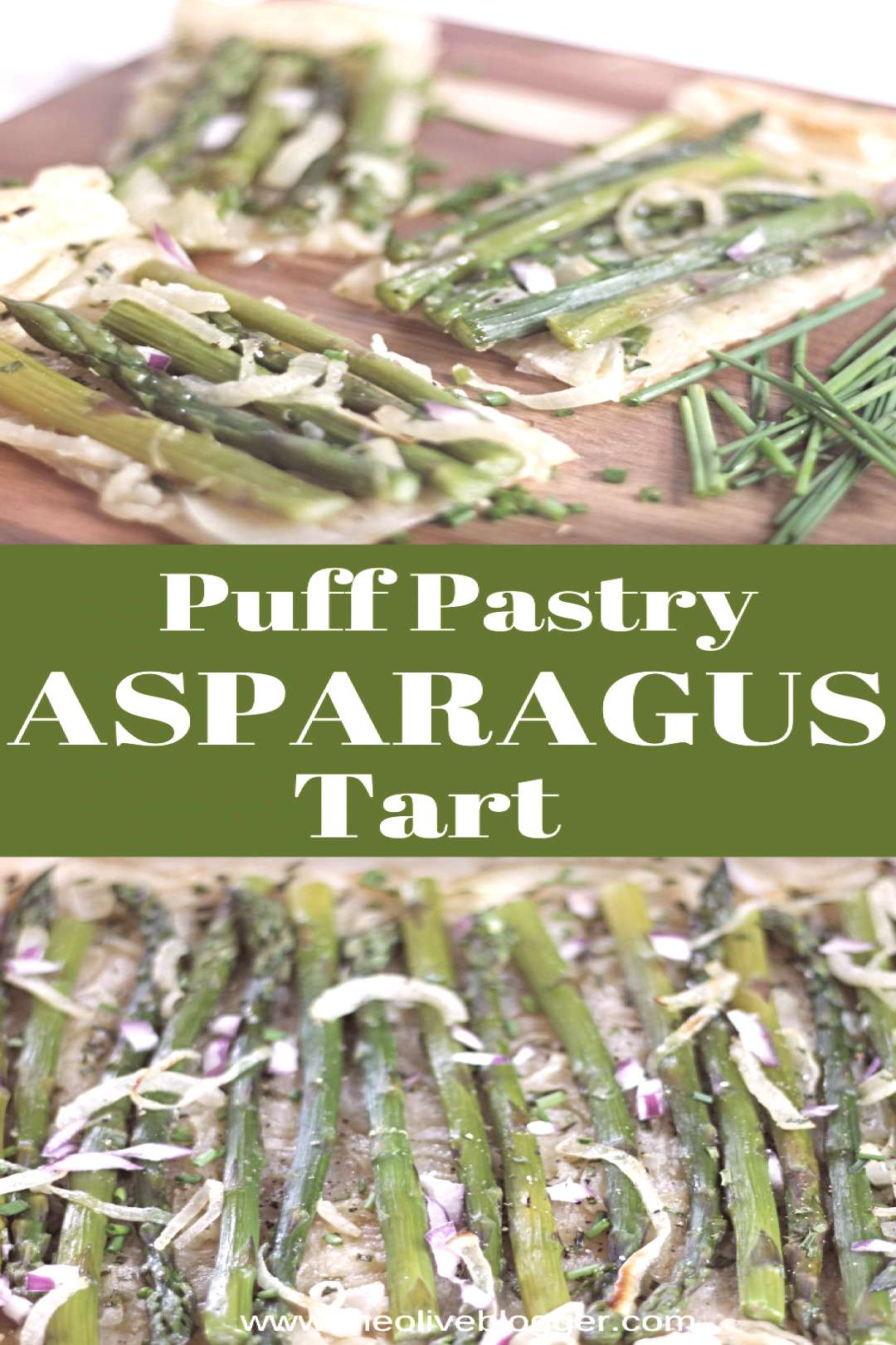Puff Pastry Asparagus Tart - an easy appetizer or addition to your holiday meals, this Puff Pastry