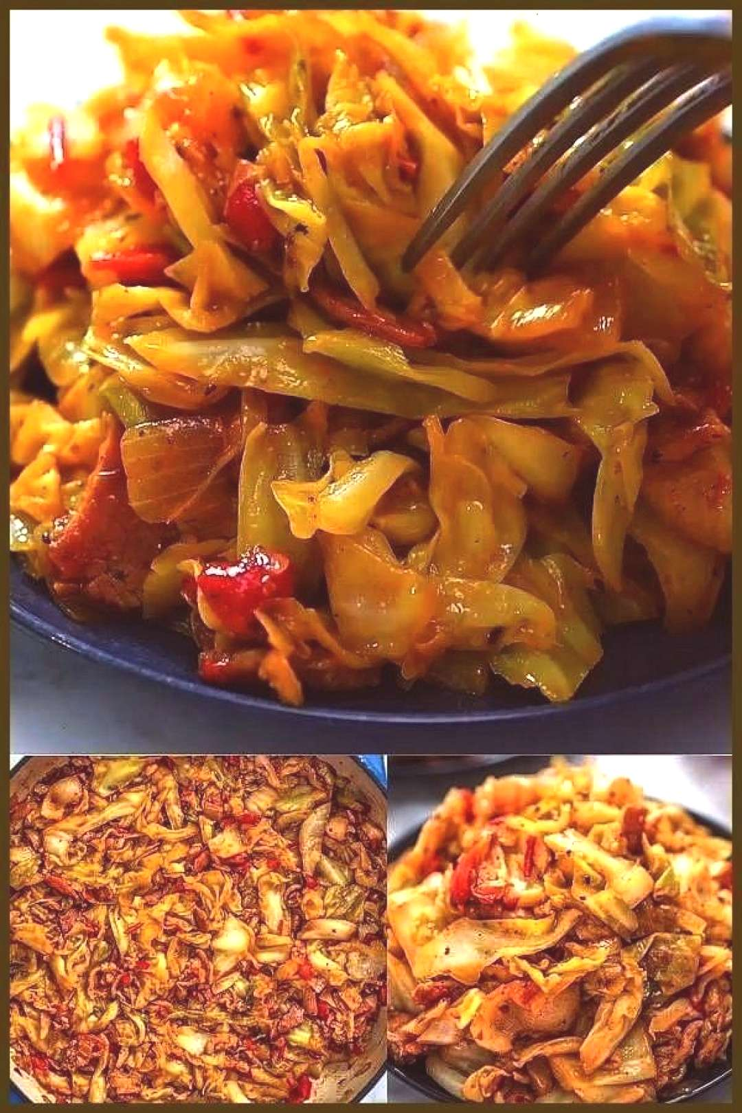 recipe is amazingly good! With bacon, onions, peppers, ... This fried cabbage recipe is amazingly g