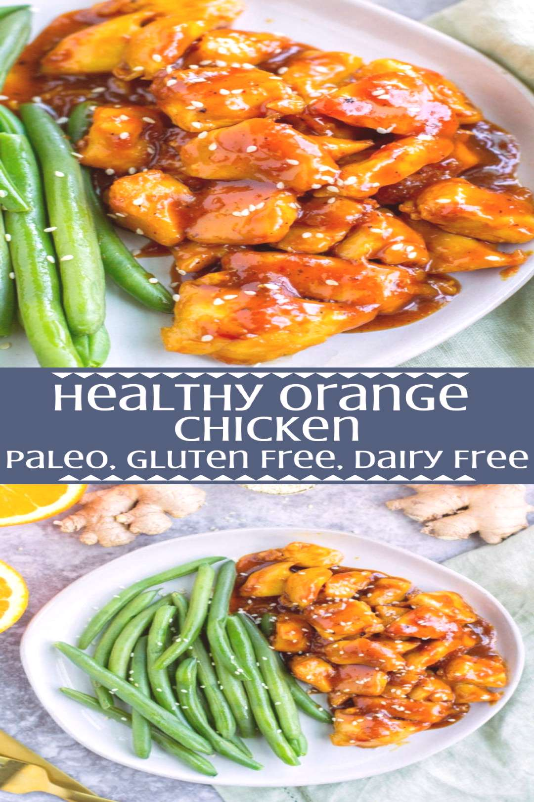 Skip the takeout and make this Healthy Orange Chicken Recipe for dinner! A simpl... - Skip the tak