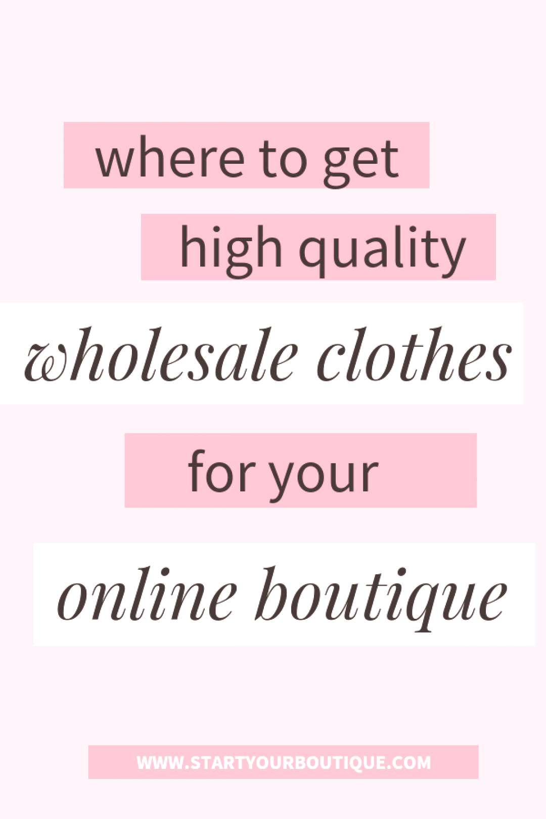 Start an Online Boutique Clothing Finding quality wholesale vendors for your online boutique can be