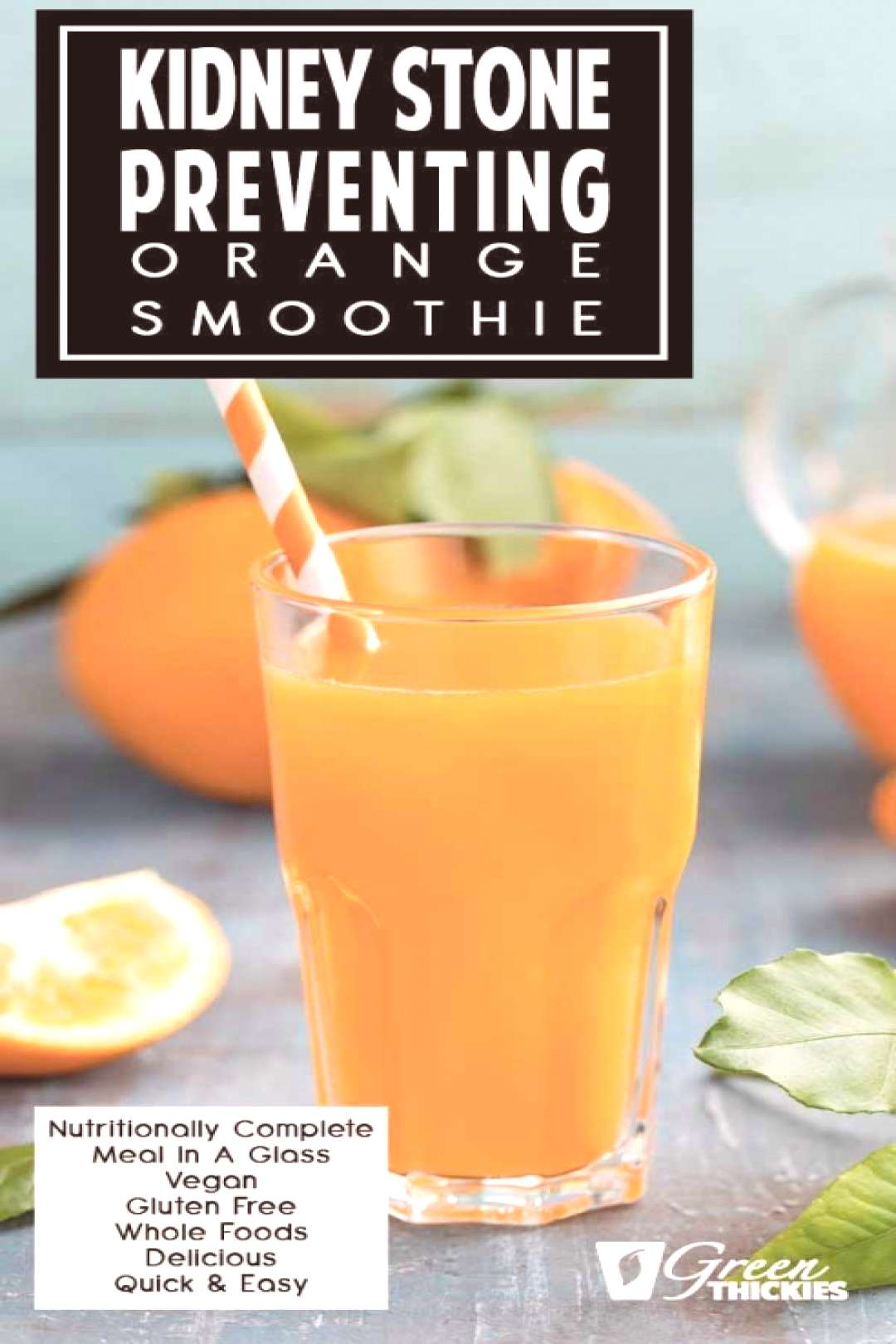 Take this orange and banana smoothie and lie back in the sun and taste the fruity refreshing and zi