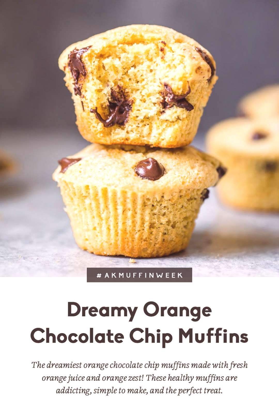 The dreamiest orange chocolate chip muffins made with fresh orange juice and orange zest! These hea