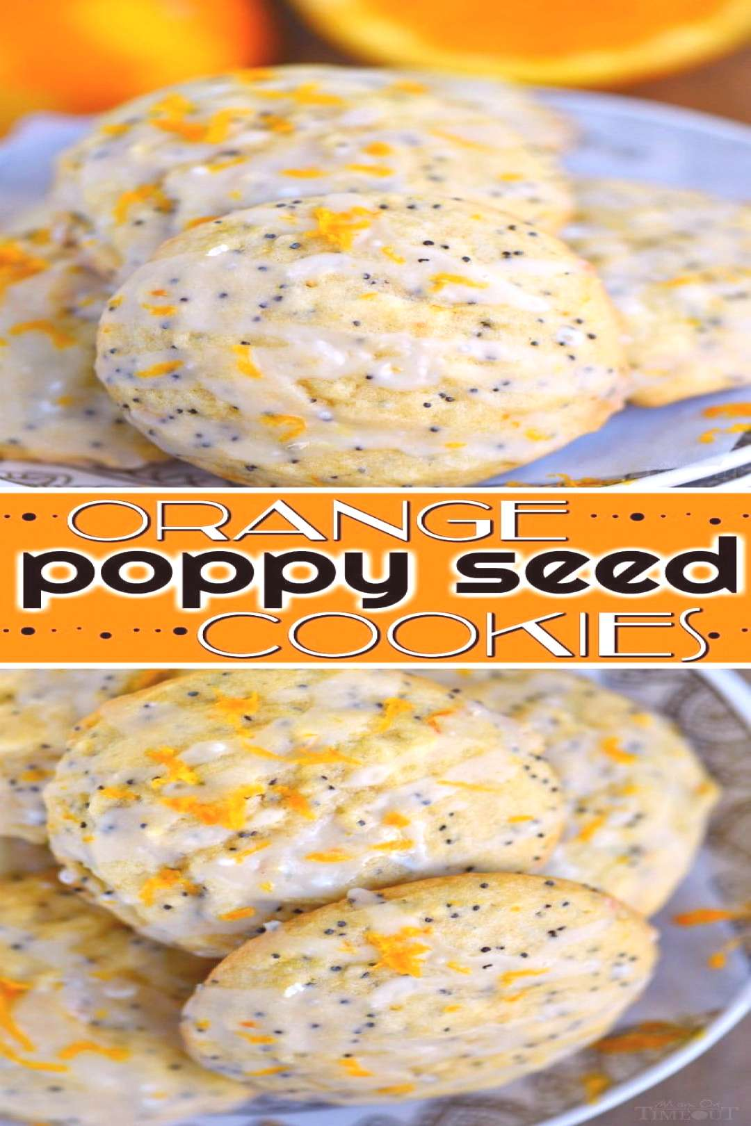 These easy Glazed Orange Poppy Seed Cookies are bursting with orange flavor! So soft and tender, th