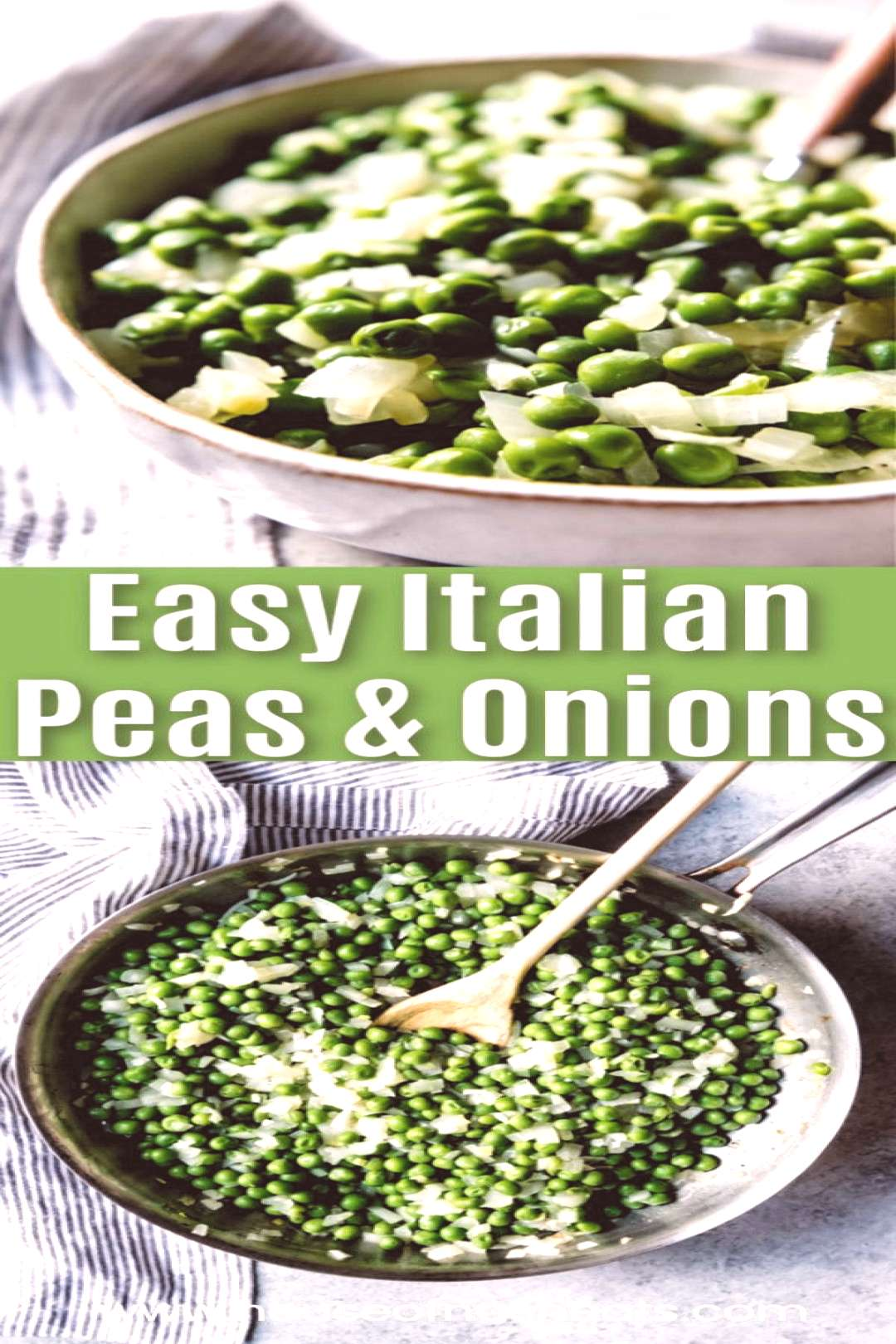 This easy Italian Peas recipe is simple and quick for a weeknight dinner but special enough to serv