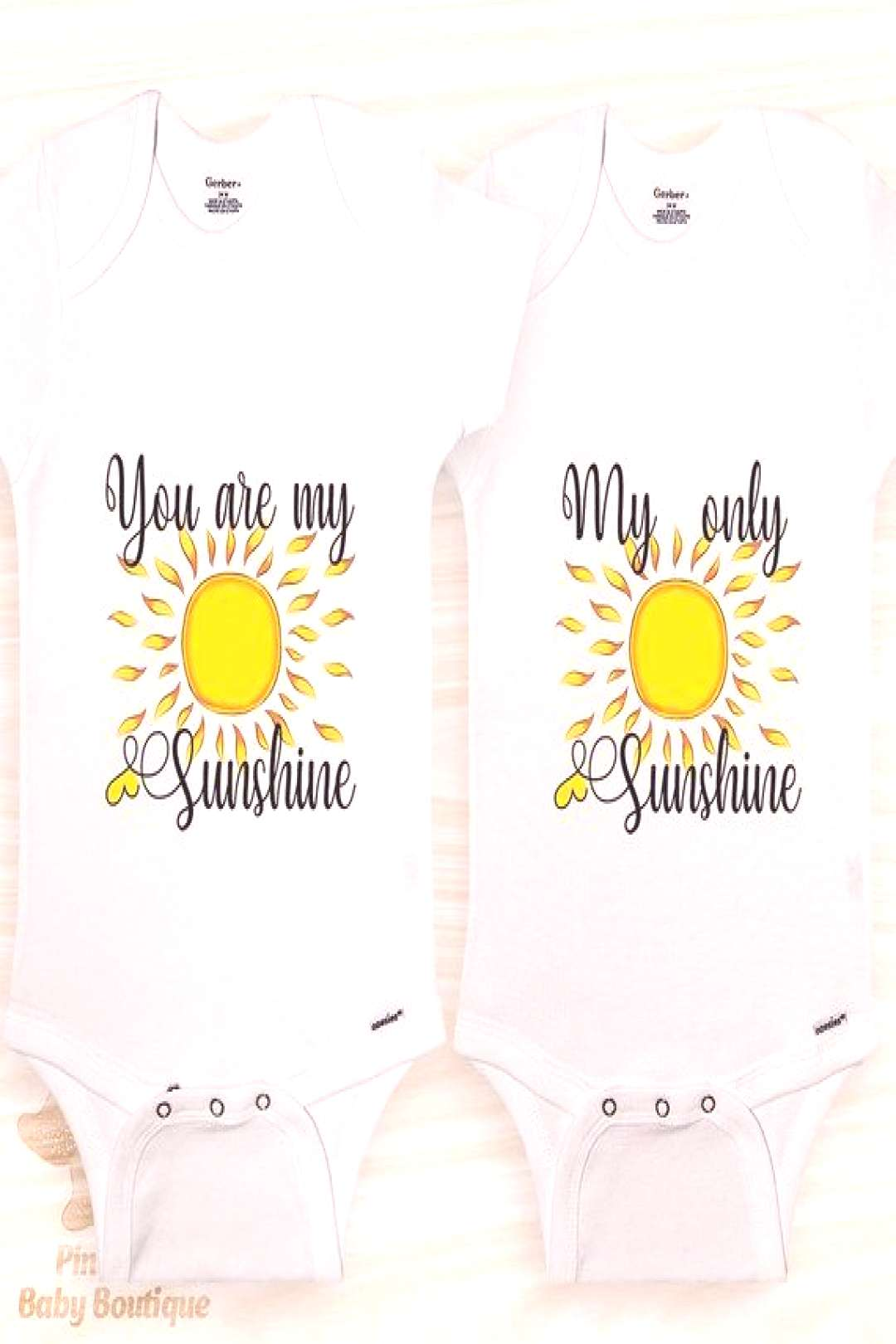 Twin Baby Clothes® Twin Onesies, Twin Baby Outfits, You are My Sunshine Onesie,... - -