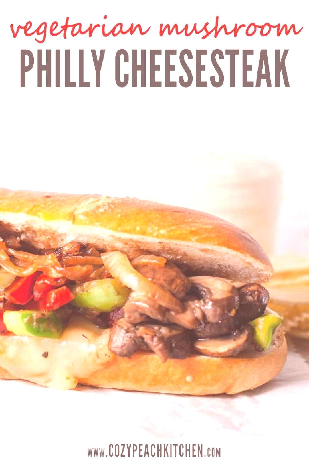 Vegetarian Mushroom Philly Cheesesteak with Caramelized Onions - -You can find Onions and more on o